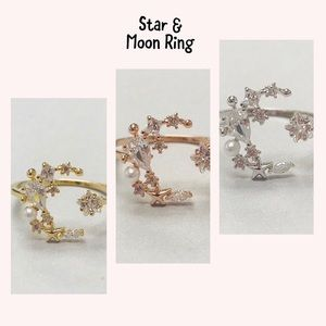 Jewelry - Star & Moon Ring, NWT